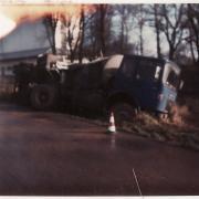 SM 260 dans le fossé dans les Flandres sur la route de la raffinerie de Dunkerque