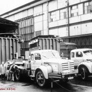 Berliet TBO tractant un transformateur