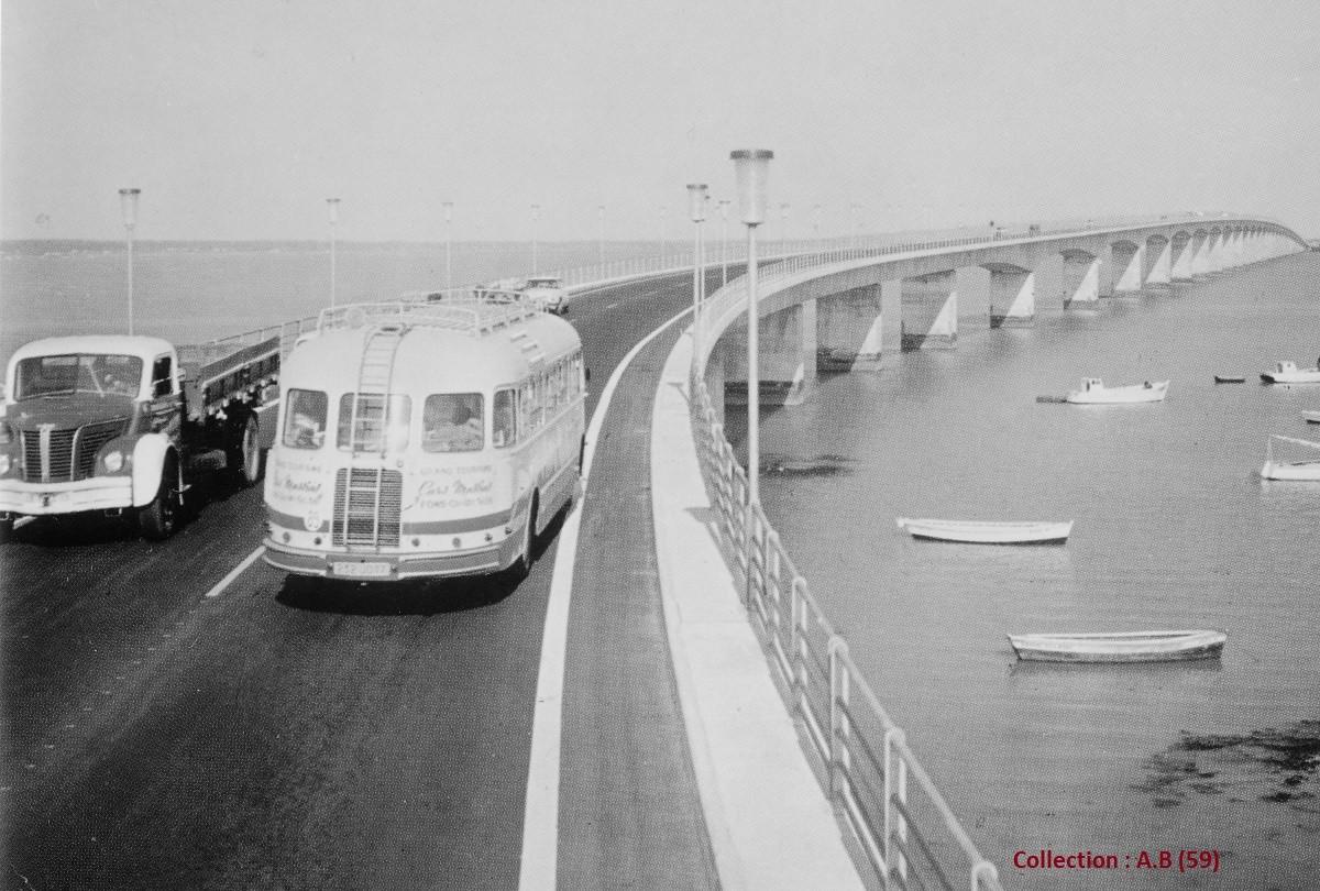 Isobloc et Berliet sur viaduc Ile de Re