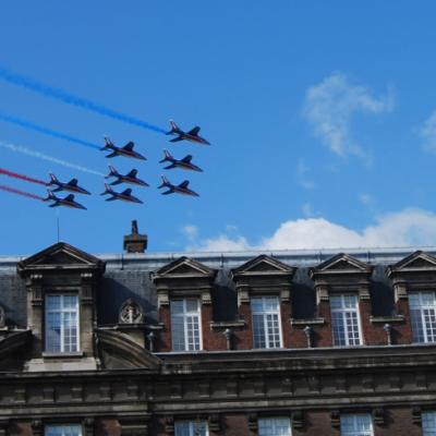 La Patrouille de France nous a rendu visite le samedi midi