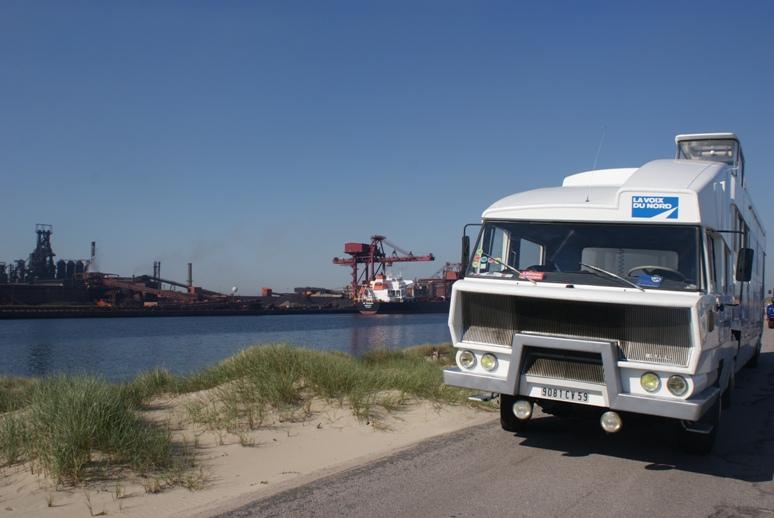 Vue sur les installations du port de Dunkerque