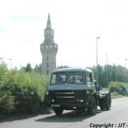 Saiem JL20 devant la tour Florentine à Aulnoye Aymeries