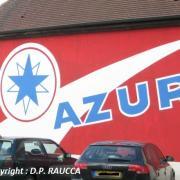 Saulieu N6, publicité AZUR restaurée